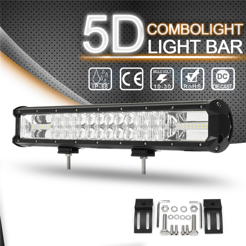 18 Inch 5D Light Bar Work Light 540W LED Work Light Bar Flood Spot Combo Driving Lamp For SUV ATV Car Truck Offroad Boat