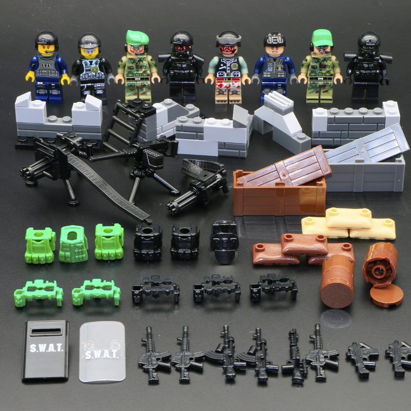 LegoINGly Military WW2 Soldier Action Figures Set World War 2 Combat Zone Educational Men Boy Army Soldier Weapon Gun Blocks Toy цена