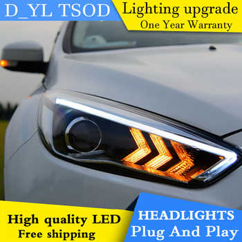 Car Styling Headlights for Ford Focus 2015 LED Headlight for Focus Head Lamp LED Daytime Running Light LED DRL Bi-Xenon HID - DISCOUNT ITEM  25% OFF All Category