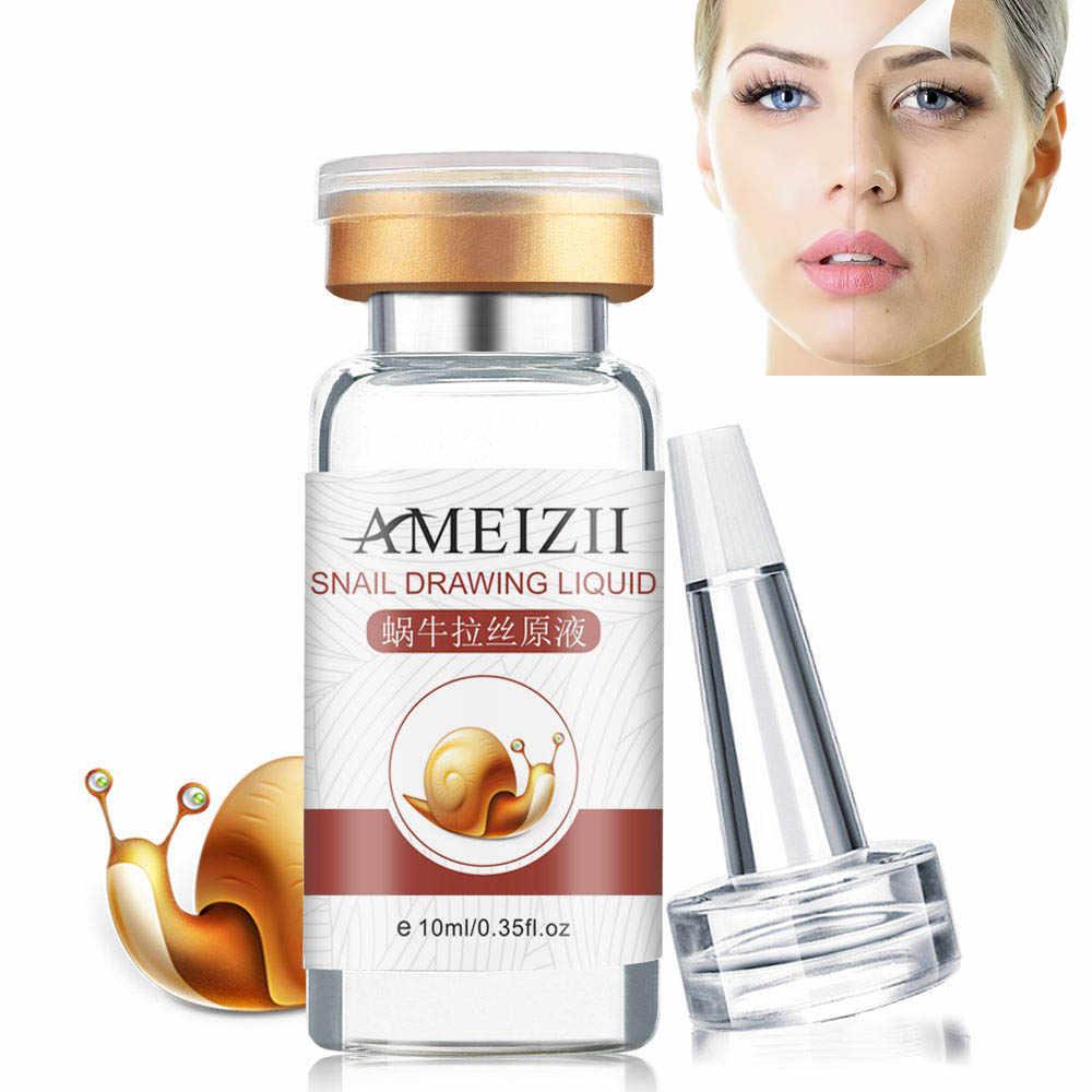 10ml Snail Essence ácido hialurónico cara Serum hidratante blanqueamiento reducir poros reafirmante esencia antienvejecimiento cara cuidado de la piel TSLM1