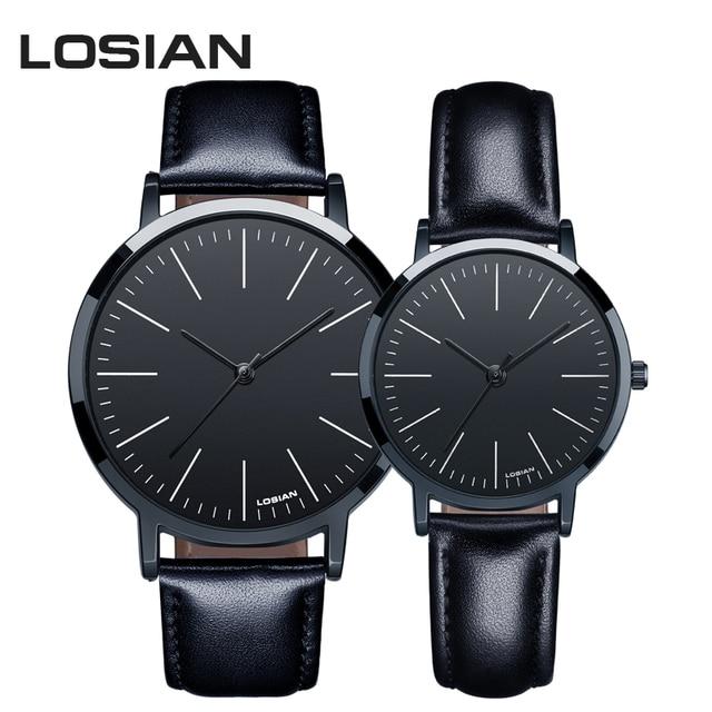 Fashion Men Women Watches Luxury Brand Ultra Thin Quartz Wrist Watch Couple Love