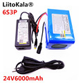 Liitokala 24V 6ah 6s3p батарея 25 2 V 18650 Аккумулятор 6000mAh аккумуляторная батарея для gps-навигатора/автомобиля гольфа/электровелосипеда