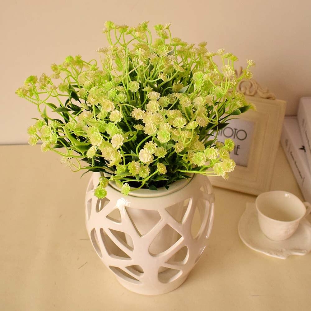 9pcs Gypsophila Artificial Flowers Home Tabletop Garden Wedding Decoration  Fake Flower White Green Plants Photo Prop Plastic In Artificial U0026 Dried  Flowers ...