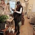 Новый 2016 Прибытие Зима Теплая Женская Мода Импорт Пальто Меховой Жилет Высококачественный Искусственный Мех Пальто Лисий Мех Длинный Жилет Плюс Размер: S-XXXL