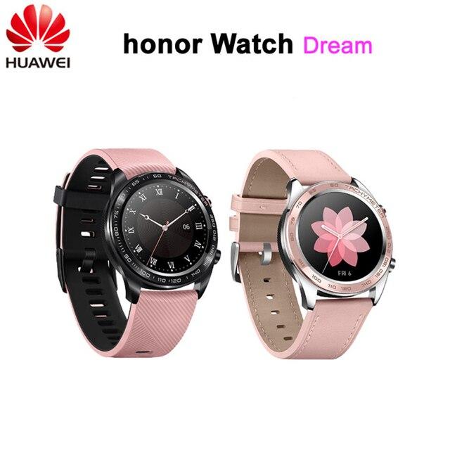 """חדש! Huawei Honor שעון חלום חכם שעון ספורט שינה רכיבה לרוץ שחייה הר GPS 1.2 """"AMOLED צבע מסך 390*390 שעון"""