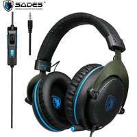 SADES R3 3 5mm Gaming Headphones With Microphone Hifi Auriculares Stereo Bass Game Headset For PC