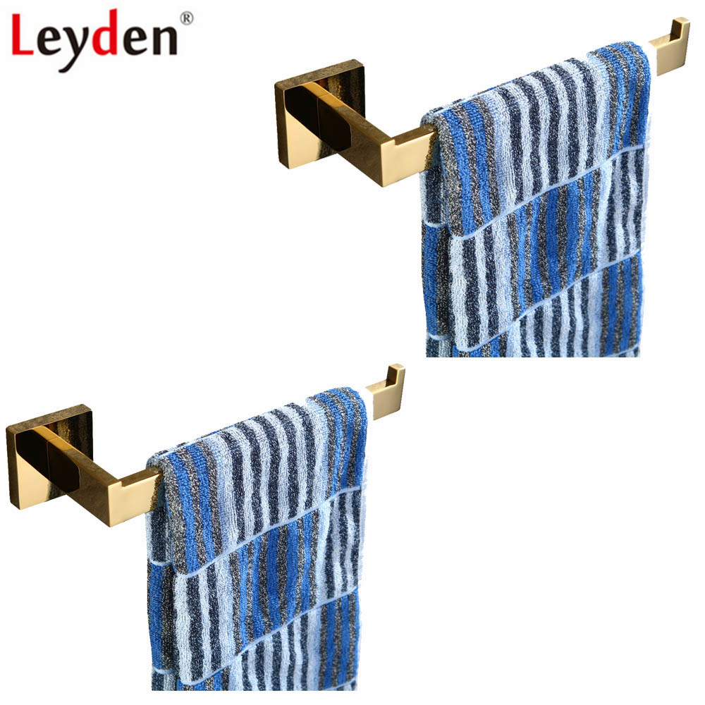 Leyden 2pcs Bathroom Accessories Set Golden Finish 304 Stainless Steel 2pcs Towel Ring Sets Wall Mounted Towel Holder high quality bathroom accessories stainless steel black finish towel ring holder