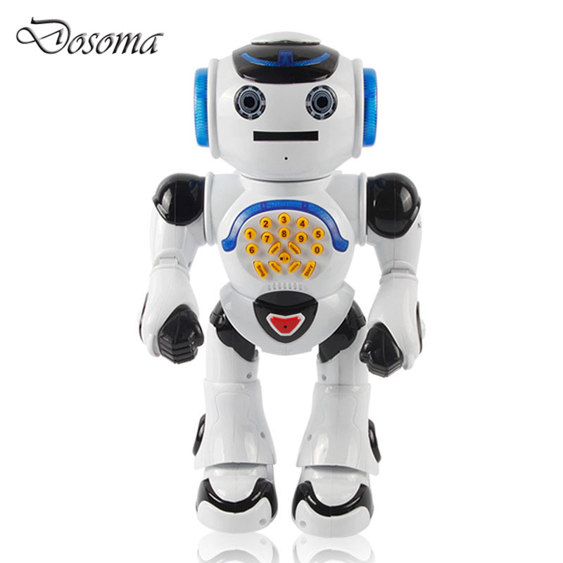 ФОТО Intelligent Infrared Remote Control Robot Parent-Child Interaction Educational Electric Toys Multi-function Singing&Dancing Toys