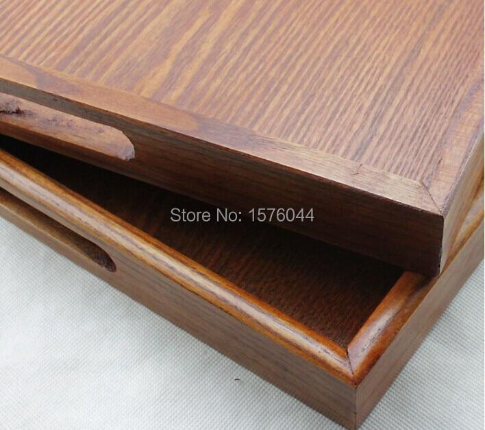 1 UNID bandeja de té de madera de gran tamaño de estilo japonés - Organización y almacenamiento en la casa - foto 4