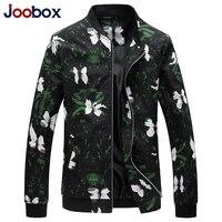 JOOBOX Puls size Floral Bomber Jacket Coat Mens Flower Printing Slim Fit Male Jackets Windbreaker Baseball Jacket Man Clothes