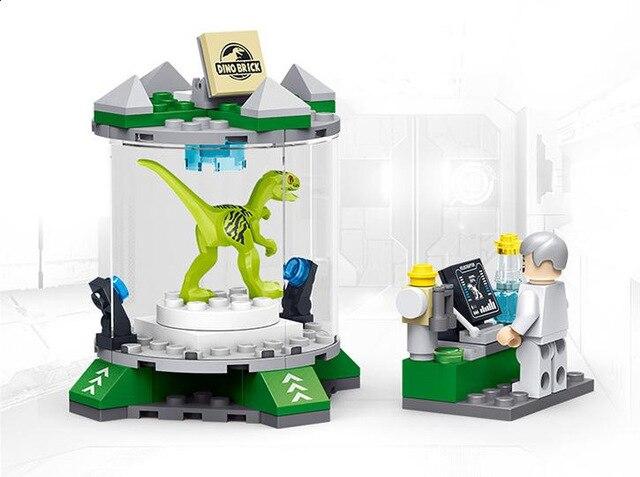 81622 New Jurassic World series the T rex laboratory model Building Blocks Classic Toys Children s