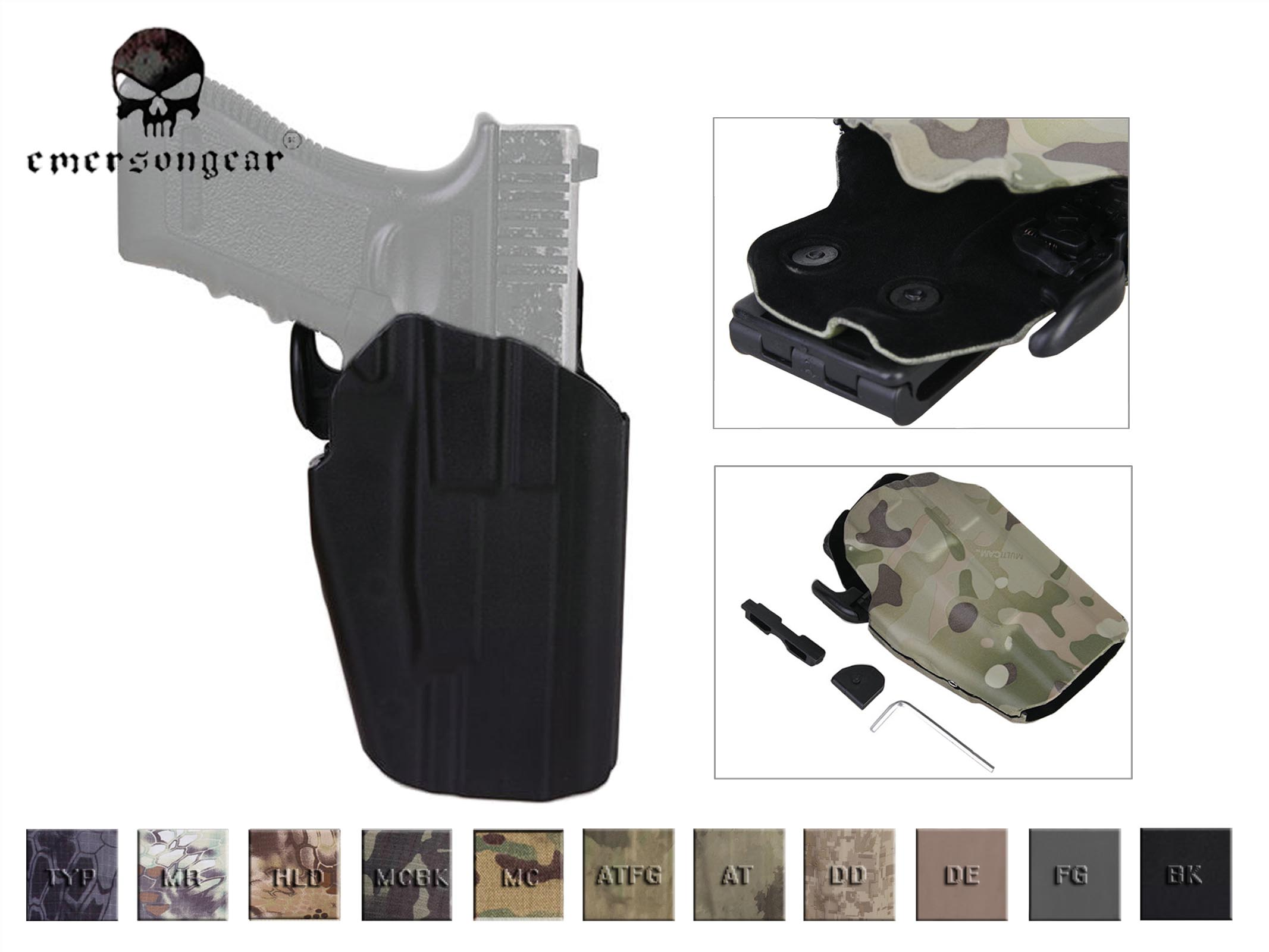 US $19 95 |EmersonGear RightHand 579 Gls Pro Fit Holster WALTHER PPQ M2  9/40 Can Fit 100 More Gun Type EM6284-in Holsters from Sports &  Entertainment