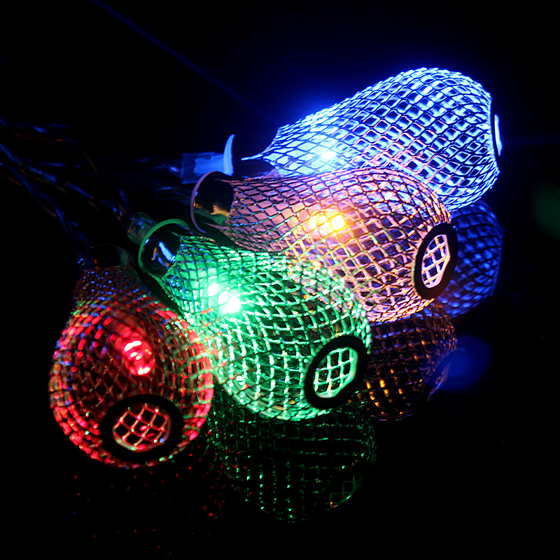 Novelty Outdoor lighting 2M LED Ball string string Christmas Lights - Pencahayaan perayaan - Foto 3