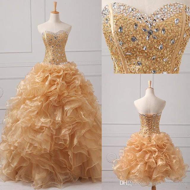 2016 Quinceanera Vestido Curto Querido Vestidos De 15 Años vestidos Até O Chão Beading Organza Duas Peças Vestidos Quinceanera vestido de Baile