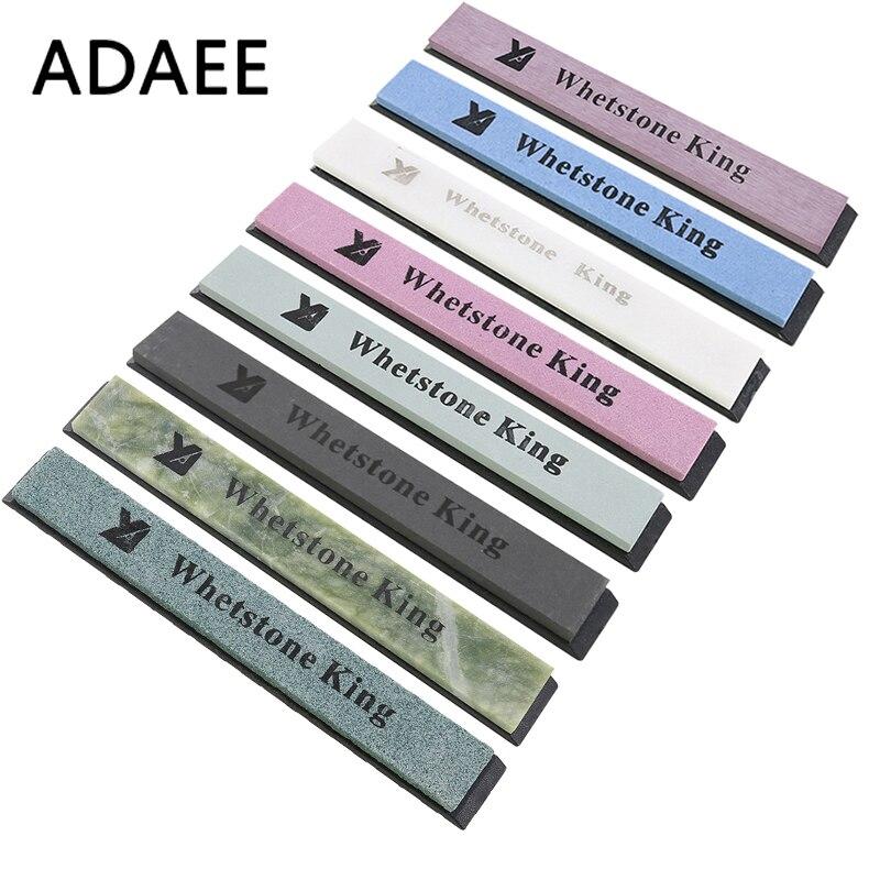 ADAEE 8pcs / Set Whetstone professzionális élezőkövek 60 240 320 400 800 3000 8000 6000 a rögzített szög élező H3 számára
