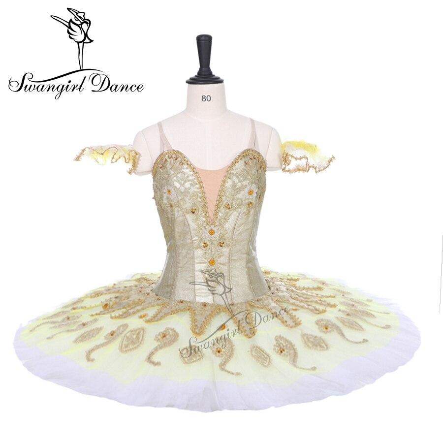 Dernières or platter tutu pour competition filles sleeping beauty ballet tutu classique professionnel ballet tutu crêpe BT9134B