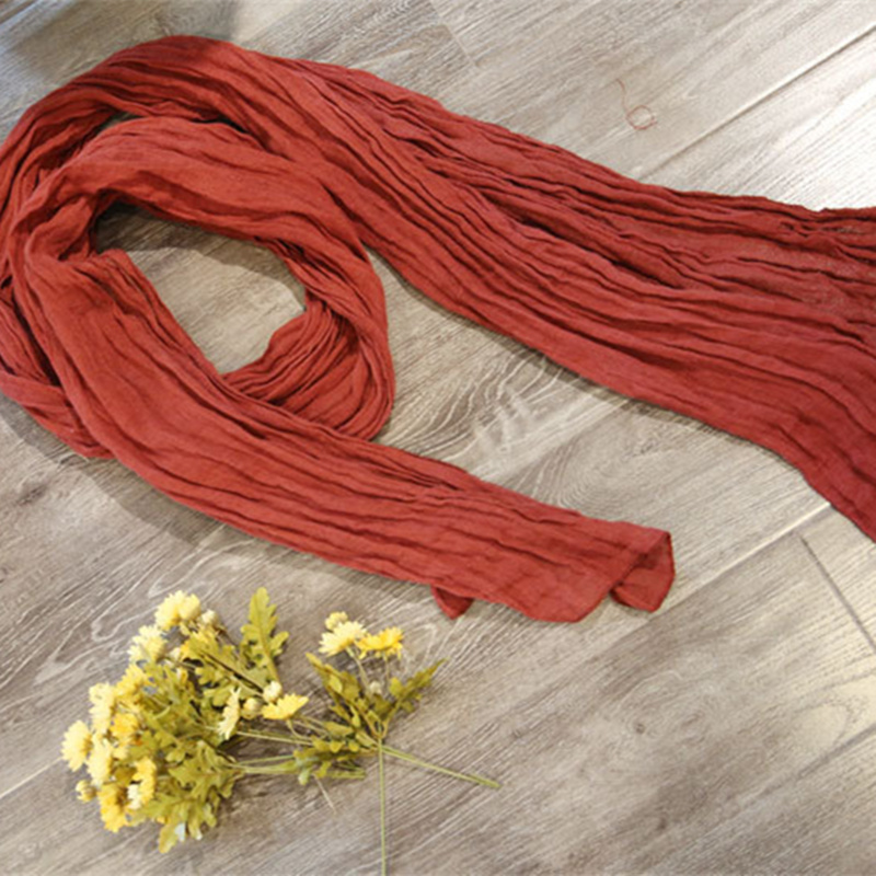 Johnature Women13 Color Scarfs 2019 Autumn Winter New Cotton Linen Solid Color Vintage Shawl Long Section Scarfs
