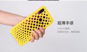 Image 4 - Oryginalny Xiaomi Redmi uwaga 7 przypadku Redmi Note7 przypadki moda powrót rozpraszanie ciepła pokrywa otworu oddechu Gradient Xiomi Redmi uwaga 7