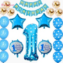 8-Season 32pcs 1 Birthday Baby Balloon Set First Boy Party Welcome Babyshower Girl 1st Pink Decoration