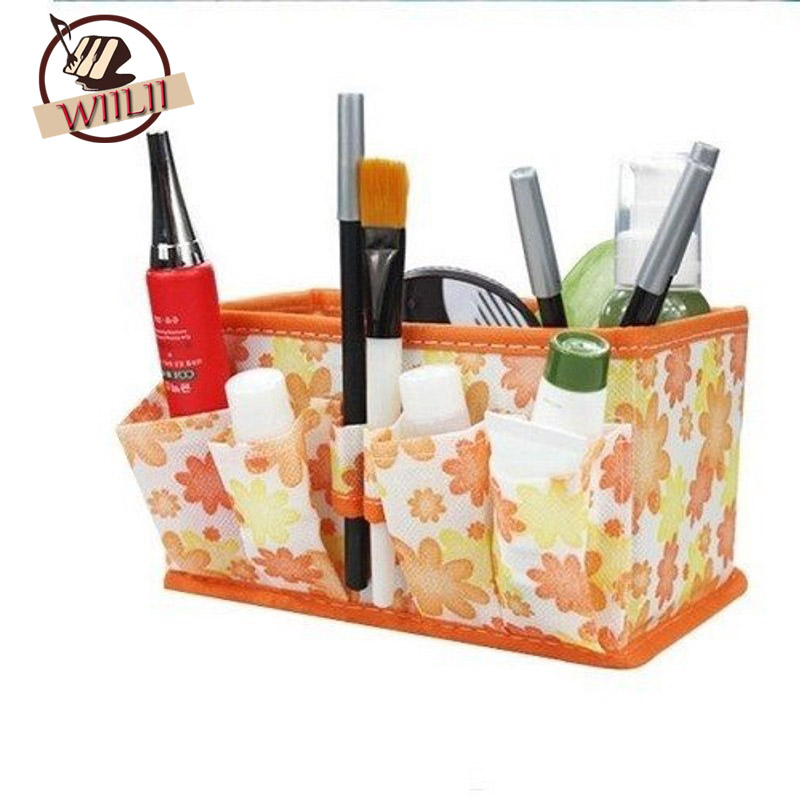 1PCS Nonwoven Folding Multifunction Cosmetic Storage Box