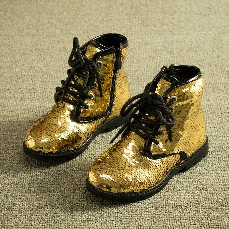 Gold Silver Bling Jordan Baby Boots Kids School Shoes For Girls Boys Toddler Child Bota Neve Menina Chaussure Botte Enfant Fille