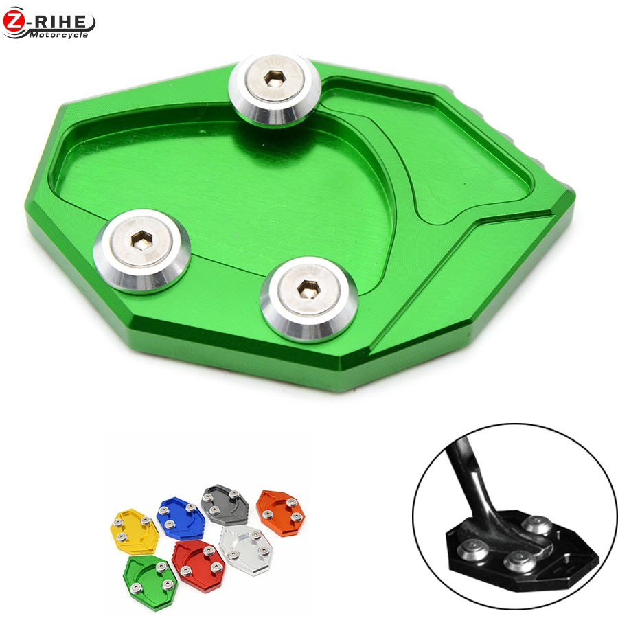 Motorcycle CNC Side Stand Enlarge Plate pad For Kawasaki Ninja ZX14R ZX14 ZZR1400 2006-2015 GTR1400 Concours 14 2008-2015 2014