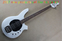 Hot Selling Active Pickup Musicman Bongo white 4 String Electric Bass Guitar Music Man Bass Free Shipping!