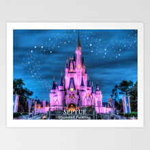 SepYue  5d Full Drill Diamond Painting Cartoon Embroidery Cross Stitch DIY Mosaic Castle