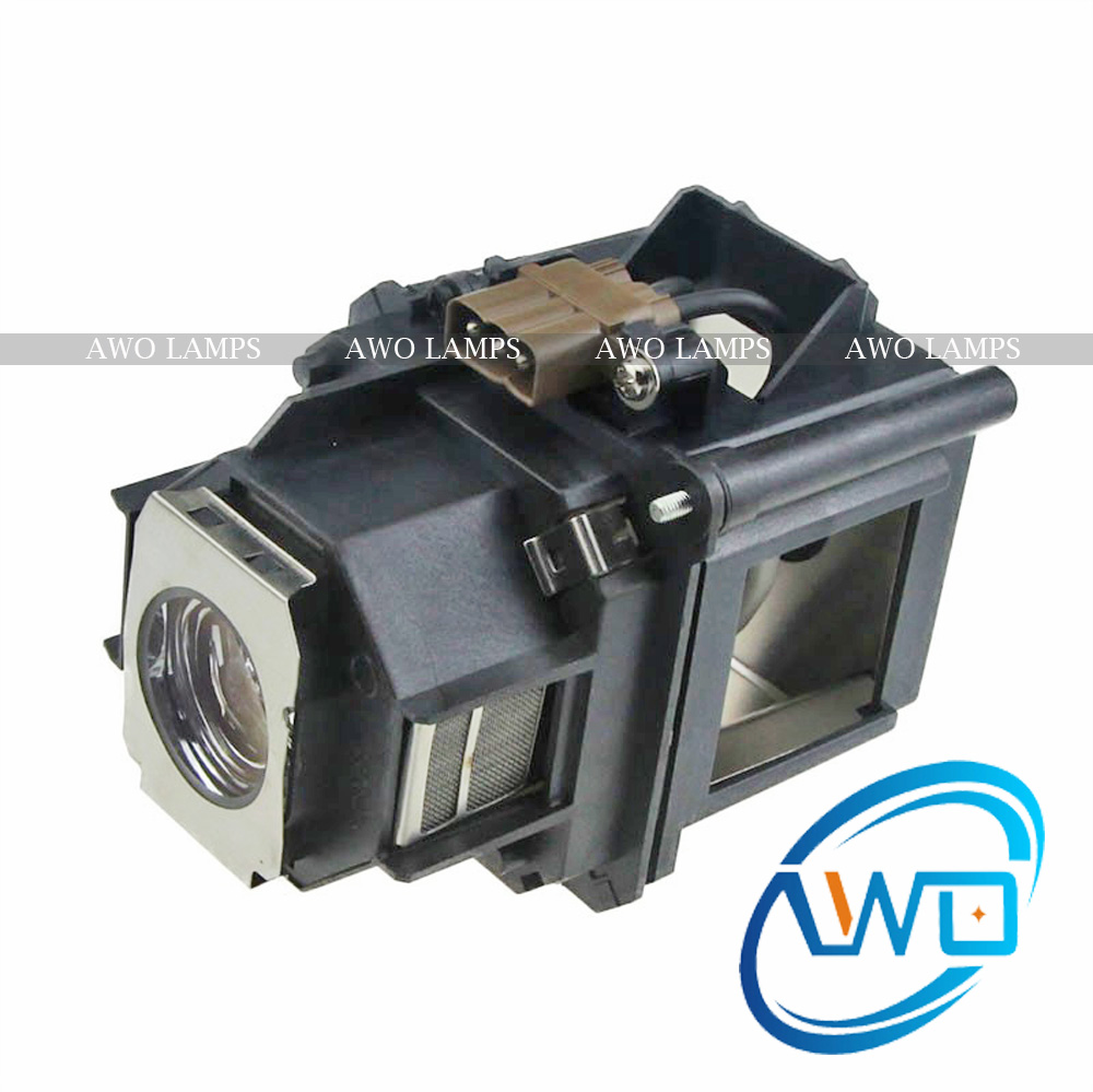 AWO Replacement ELPLP46 Projector Lamp with High Quality Bulb for EPSON PowerLite Pro G5200WNL/G5350NL/EB-500KG/G5000/G5200 high quality elplp49 replacement projector lamp bulb for epson powerlite pro cinema 91009350 powerlite pro cinema 9700ub 9500ub