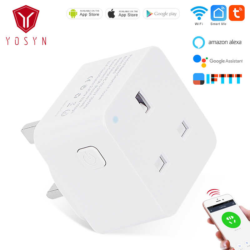Умная розетка YOSYN UK Wi Fi умная с дистанционным голосовым управлением