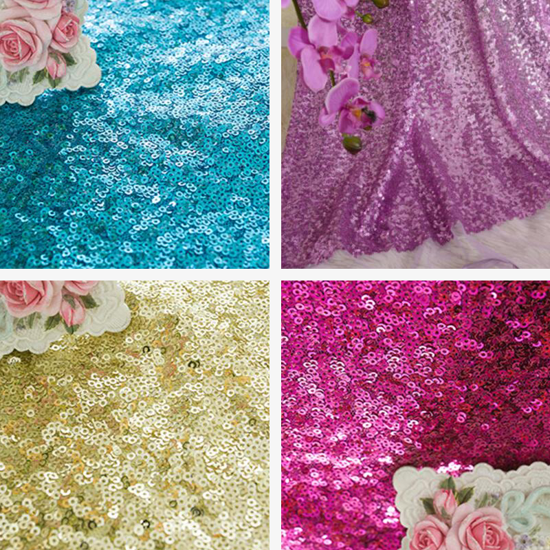 Wholesale 1 yard lot synthetic messy sequins fabric width for Cheap sewing fabric