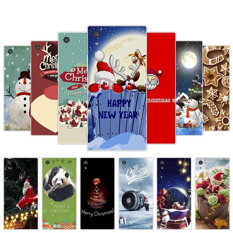 Silicon Cover for Sony Xperia XA1 Z6 G3121  Phone Christmas Day Coque for Sony Xperia XA1 Case for Sony Xperia XA1 Z6 Z 6 Fundas