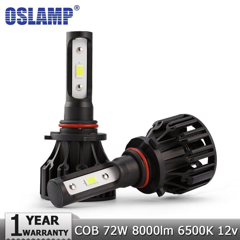 Oslamp COB H7 H11 H1 H3 9005 HB3 9006 HB4 Auto HA CONDOTTO il Faro Lampadine Hi-Lo Fascio 8000lm 6500 k Auto Faro Led Lampade A Luce 12 v 24 v