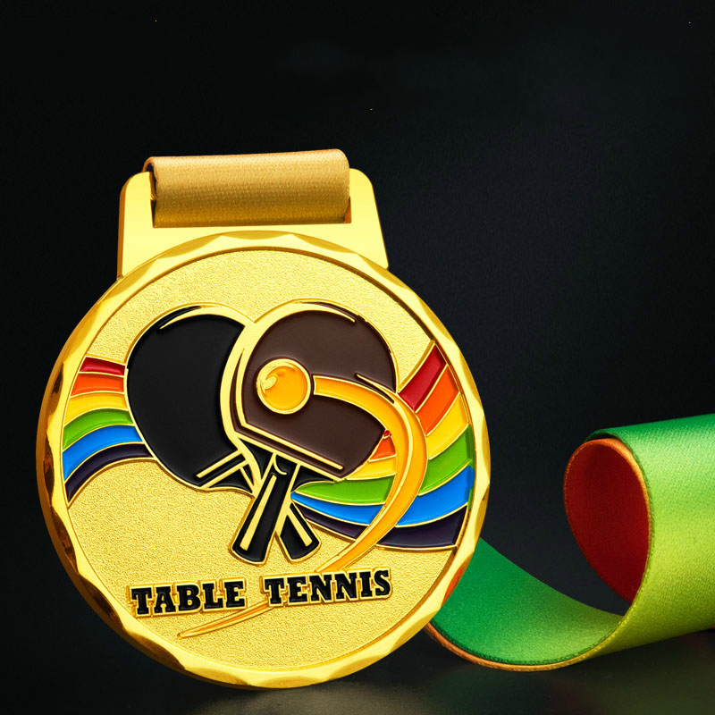 High Quality Alloy Table Tennis Match Medal Customized Team Competition Medal Wholesale Sports Meeting Champion Award Souvenirs