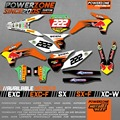 Custom Team Graphics & Backgrounds Decals 3M Stickers Red B Kits For KTM SX SXF EXC EXW 125 250 450 525 1998-2017 Free Shipping