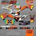 De encargo del Equipo Gráficos y Fondos Etiquetas 3 M Pegatinas B Rojo Kits Para KTM SX SXF EXC EXW 125 250 450 525 1998-2017 Envío Gratis
