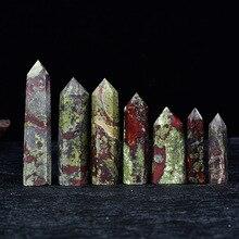Dragon Blood Stone Six Prisms Original Decorations  Column Single Tip Decoration