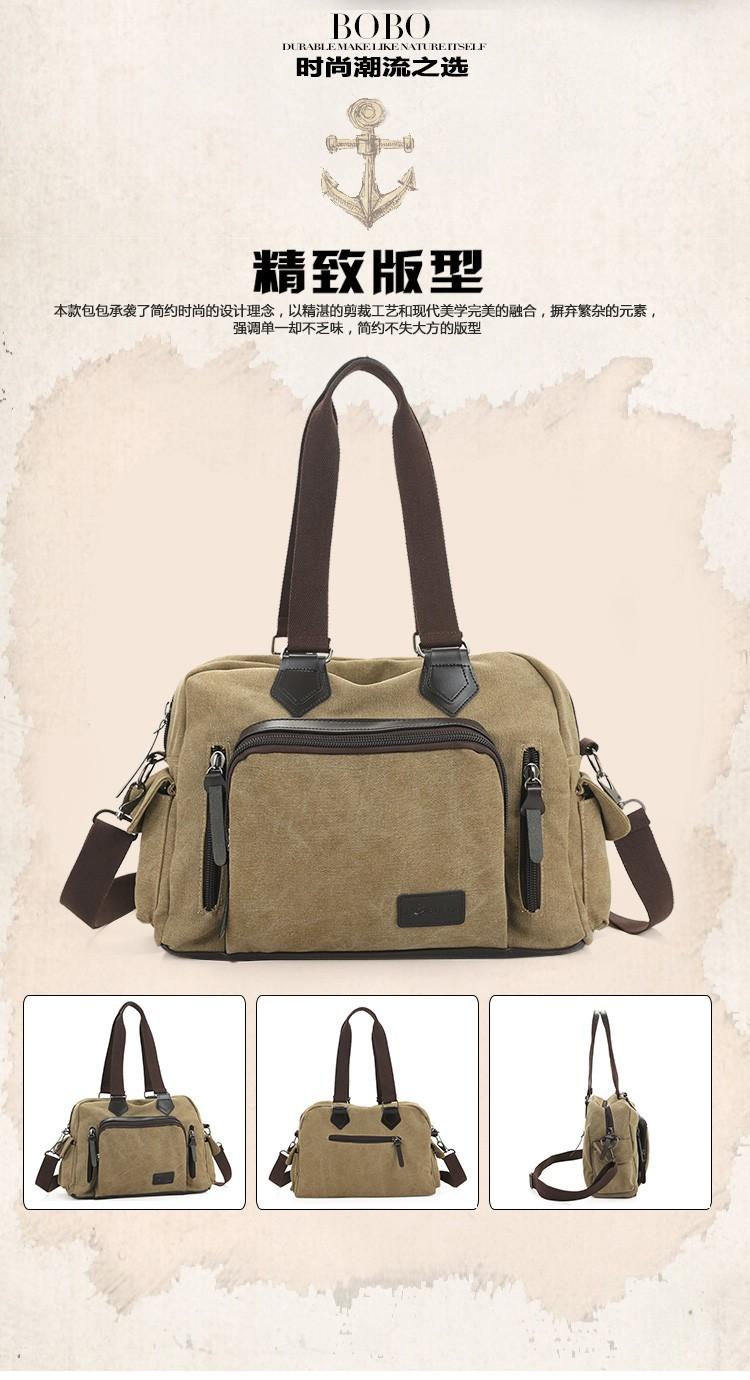 2016 men\'s travel bag canvas men messenger bag brand men\'s bag vintage style briefcase,Travel Shoulder bag (2)