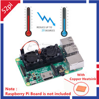 New Heatsink Cooler With Double Cooling Fans Reduce Up To 20 Degrees For Raspberry Pi 3