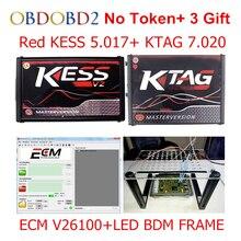 Master Online KESS V5.017 V2.23 + KTAG V7.020 V2.23 + LED BDM FRAME No Tokens KESS 5.017 + K-TAG K Tag 7.020 ECU Programmer