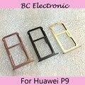 For Huawei P9 P 9 Original Silver SIM Card Tray SD Card Tray SIM Card Holder SIM Card Drawer Replacement Free shipping
