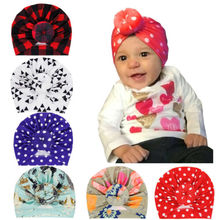 Newborn Baby Kids Girls Turban Knot Head Wrap Cute Kid Rabbit Bunny Hat Ear Cotton Velvet Cap Knot Cotton Beanie Bow Headbands цена и фото