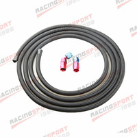 Nylon Cover Braided 6AN AN6 Oil Fuel Gas Line Hose 3M + Swivel Hose End Fitting