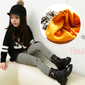 New Brand TUTUYU Winter Girls Children Leggings Houndstooth Baby Girl Skinny Pants Elastic Waist Thick 6 8 10 12 14 Year Old