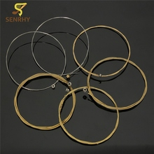 "Top Selling Durable Set of 6 Piceces 95cm Acoustic Wooden Guitar Steel Strings 150XL 0.012""-0.053"" Guitar Parts & Accessories"