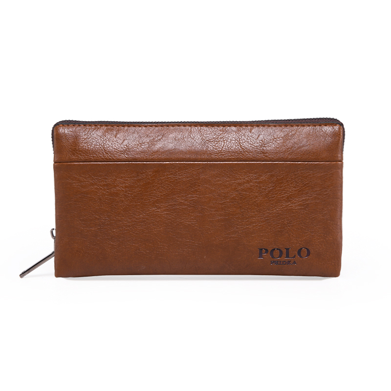 2016 High Quality Vintage Business Hand Bag Men Clutch Bags Long Leather Wallet Luxury Brand Male Wallets With Wristlet 2016 famous brand new men business brown black clutch wallets bags male real leather high capacity long wallet purses handy bags
