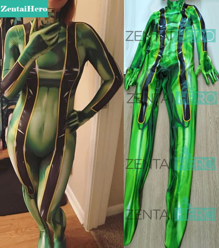 Free Shipping 3D Printed Froppy Costume Boku No Hero Academia Costumes Tight My Hero Tsuyu Asui Cosplay Superhero Costume