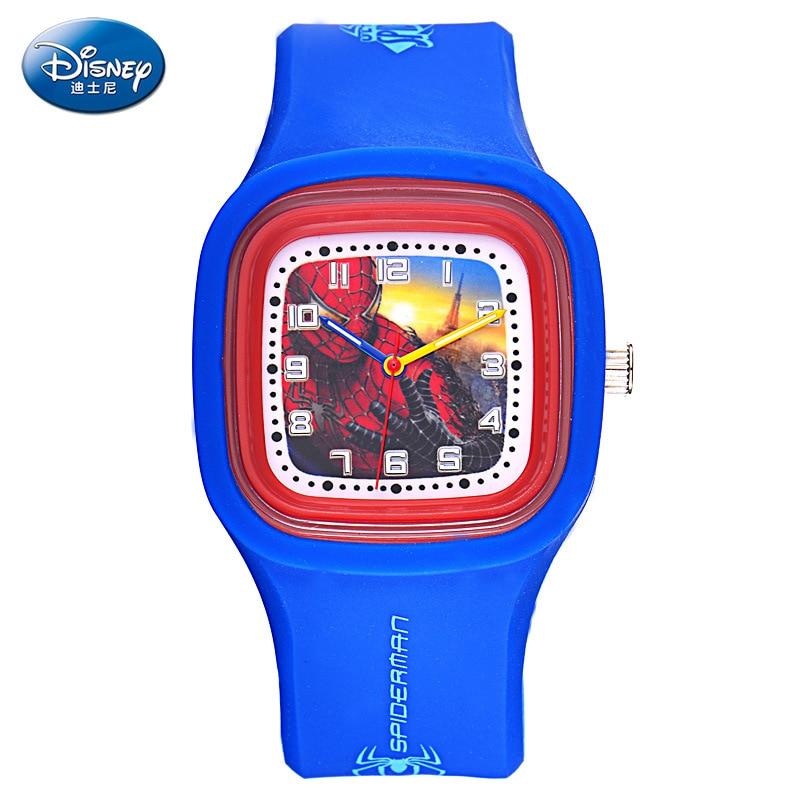 Disney brand children Wrist Watches Boy 30m waterproof Silicone quartz watch Spiderman kids watches