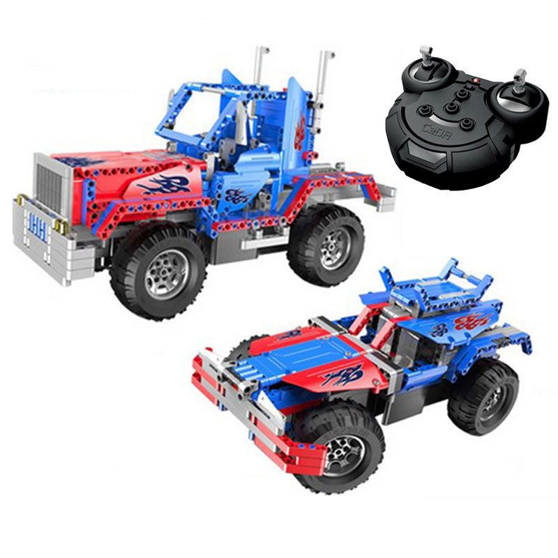 Technic Remote Control RC Police Car Building Block Brick Toy Technic Series Compatible with Legoingly loz smartable technic series red excavator diy building brick blocks toys compatible with legoingly technic car gift toy to kid