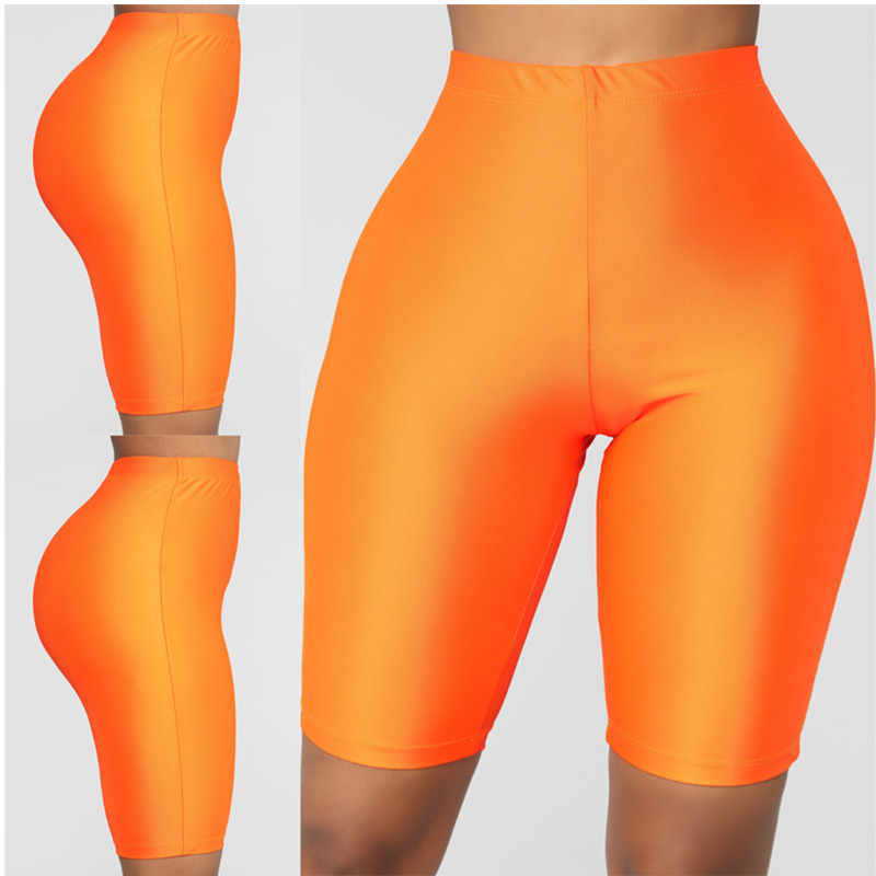 Kobiety Sport fitness legginsy pół wysokiej talii szybkie suche Skinny rowerowe krótkie legginsy elastyczne na co dzień legginsy jazda na rowerze akcesoria W3